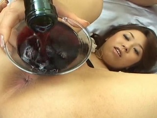 Hairy Pink vs Red Wine Asian Sex Clip